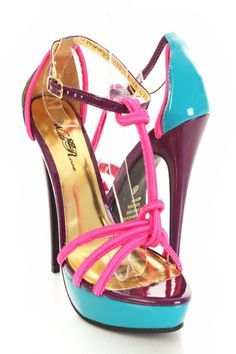 Fuchsia Multi Strap T Strap Contrast Open Toes Platform heels http://www.amiclubwear.com/shoes-heels-bf-foxy63fuchsiamultishinysilk.html#