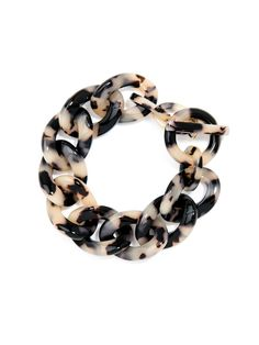 """Lightweight and carefree link tortoise-inspired bracelet. It's the perfect playmate for a night out! Toggle closure 8"""" Length 0.8"""" Width"""