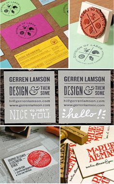 KMG - Kathy McGraw Graphiques - Blog - BUDGET DESIGN: Hand Stamped BusinessCards