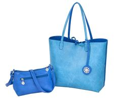 Check out this Cobalt & Turquoise Sydney Love Ladies Reversible Tote Bag! Find the best Ladies Accessories at nicolestennisboutique.com
