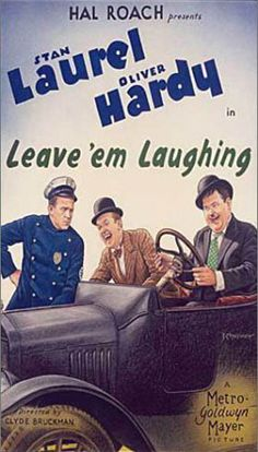 Leave 'Em Laughing is a 1928 two-reel silent film starring Stan Laurel and Oliver Hardy. Produced by the Hal Roach Studios, it was shot in October, 1927 and released January 28, 1928 by Metro-Goldwyn-Mayer. It marks the first appearance of Edgar Kennedy in a Laurel and Hardy film.