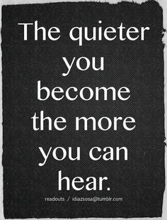 The quieter...