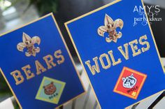 Amy's Party Ideas: Cub Scout Blue Gold Ceremony {Real Parties I've Styled}