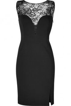 Emilio Pucci Black Lace and Jersey Combo Dress - Available to Try on in the virtual closet Smart Dresser