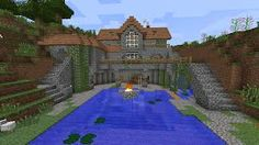 minecraft house goes underground - Google Search Cool Minecraft Houses, Minecraft Plans, Minecraft Blueprints, How To Play Minecraft, Minecraft Stuff, Minecraft Castle, Minecraft Structures, Minecraft Designs, Minecraft Creations