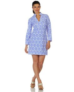 Kate Dress - Garden Gate Periwinkle – Cotton Patch of Kentucky
