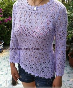 VK is the largest European social network with more than 100 million active users. Knitting Designs, Knitting Projects, Knitting Patterns, Lace Knitting, Free Pattern, Knitwear, Pullover, Sweaters, How To Wear