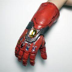 Avengers Gang Iron Man Infinite Gems Arm Latex Glove Props - Red