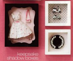 Barbie Clothes & Accessories Keepsake Shadow Boxes Very pretty way to display keepsake Barbie clothes and accessories (or any other little i...