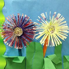 Dixie cup flower craft we did with our kids for our May bulletin board!