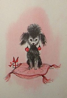 Oh, those prissy Christmas poodles.