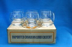 6 VINTAGE IMPORTED CANADIAN LORD CALVERT GLASSES