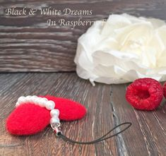 Excited to share the latest addition to my #etsy shop: Needle Felted Heart Felt Wool Keychain Decoration Present Bag Charm http://etsy.me/2CyiFtS #art #fiberart #red #white #heart #needlefelted #felt #decoration #keychain