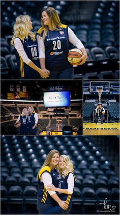 Couple at Bankers Life Field House in Indianapolis - Same sex couple