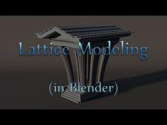 Lattice Modeling- in Blender - YouTube