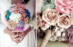 DIY Fabric Wedding Bouquets - I have 5 months to figure this one out! But it's a must have! :)