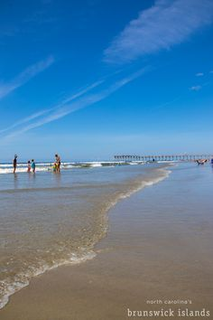 What a beautiful day to be in NC's Brunswick Islands! Visit Nc, Nc Beaches, What A Beautiful Day, Sunset Beach, Islands, Tourism, Things To Do, Surfing, Explore