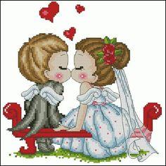 "Free cross-stitch pattern ""Wedding""   Cross-Stitch Club"