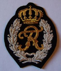 Royal Family COA Kaiser German Prussia King Monogram Cipher Letter Crest Patch
