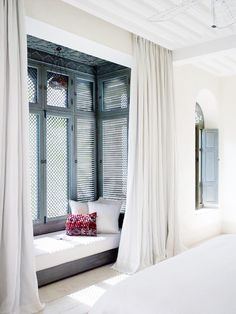 Take a look and enjoy ideas about Bay windows on termin(ART)ors.com. | A lot of ideas you'll love hopefully. :) The image we use for the PIN here is from: http://www.jacquelynclark.com/2015/06/23/the-prettiest-hotel-in-morocco/