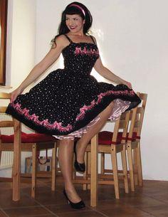 Pinup dress 'Champane Night' PLUS SIZE by PinupDollWardrobe