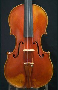 """The one and only Joseph Hel """"ex-Ysaye"""" violin is available for trial and purchase in our studio. #BenningViolins #JosephHel #violin #violinmaker"""