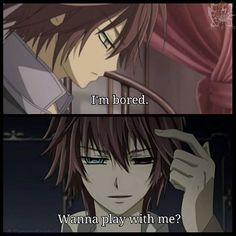 Shiki being bored ^^ #vampireknight what do you mean by play~?