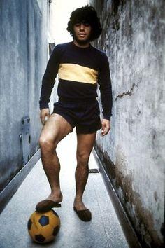 Diego Armando Maradona Pantofole (1974) #calcio #sport