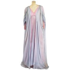 Pair of Agnes Moorehead gowns from the stage production of Don Juan in... ❤ liked on Polyvore featuring dresses, gowns, v neck long dress, strapless dresses, long dresses, strapless gown and long sleeve evening gowns