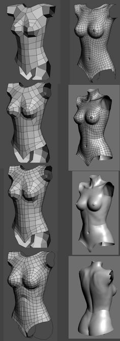 3D Character Modelling Reference-body_by Hemant Dangare_from Blogspot