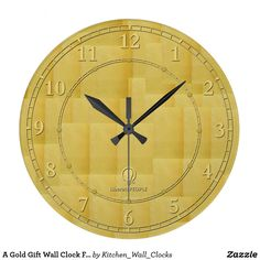 A Gold Gift Wall Clock Favors Wood Buy Online Now https://www.zazzle.com/kitchen_wall_clocks/products?rf=238136051362953437