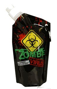 Zombie Virus Collapsible Water Bottle