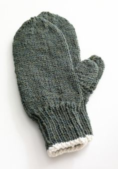 Free Knitting Pattern 80675AD Toasty Knitted Mittens : Lion Brand Yarn Company