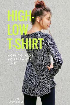 Free Sewing Pattern: High-Low T-Shirt