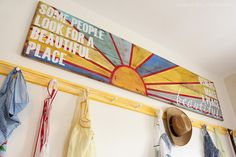 inspired by charm: from wood to wall - the making of a sign