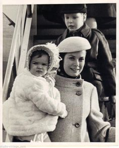 Princess Grace with Stephanie and Albert