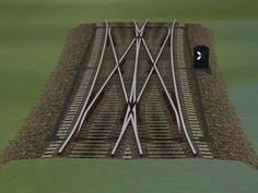 Weichensystem Betongleis Set 4 (Doppelte Kreuzungsweichen)