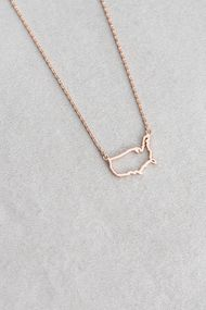 USA Outline Necklace ($15)