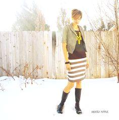 Brassy Apple: Sweater refashion - DIY skirt