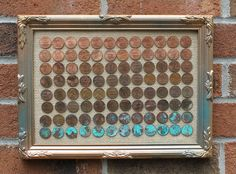 ombre penny art  http://www.instructables.com/id/DIY-Ombre-Penny-Art-Project/#step1