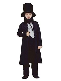 Abe Lincoln Costume | Kids Historic Presidential Halloween Costumes