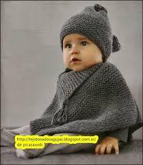 Resultado de imagen para ponchos para niños a punto de agujas