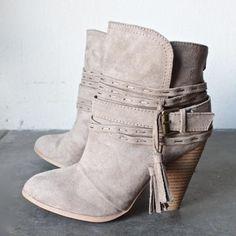 7823ac339f5 Kara tassel heeled bootie - shophearts - 1 Suede Ankle Boots