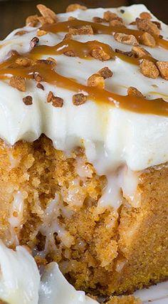 Pumpkin Poke Cake