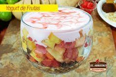 Resultado de imagen para yogurt natural con frutas y granola