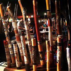 Didgeridoos - mindil beach markets Darwin