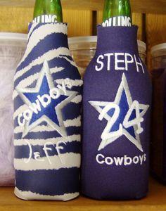 DALLAS COWBOYS  beverage koozie  PERSONALIZED by KoozieFloozie, $14.95