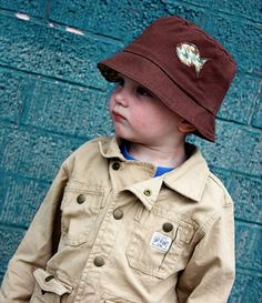 Sew a 4-in-1 toddler hat. Free pattern. // Sewed this without instructions; Simple pattern. ♥