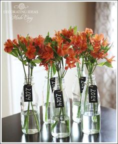 Graduation party decorating ideas! Centerpiece ideas, food ideas, and more!