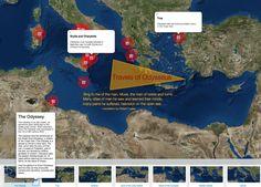 Travels of Odysseus - National Geographic Society His Travel, Travel Maps, Mythology Books, Greek Mythology, Create Your Own Map, English Units, National Geographic Society, Sing To Me, English Language Arts